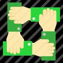 hand, maketing, partner, team, team work icon