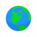 continent, globe, map, world icon
