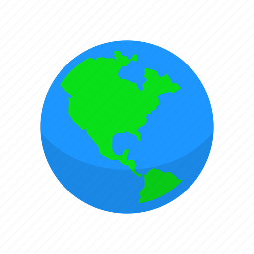 continent, globe, map, world icon