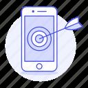 ad, aim, analysis, arrow, marketing, phone, target