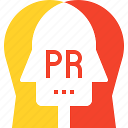 communication, conversation, head, human, pr, public, relations icon