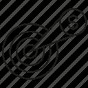 dart, finance, focus, money icon