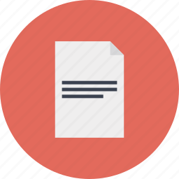 business, document, file, internet, list, marketing, office, page, paper, report, text, web icon