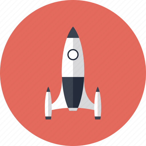 business, campaign, innovation, launch, marketing, new, retro, rocket, science, spaceship, start, technology icon