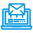 business, email, laptop, mailing, marketing, startup icon