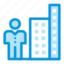 building, business, growt, marketing, office, startup icon