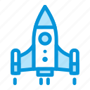 business, launching, marketing, rocket, startup icon