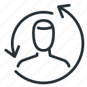 history, man, person, remarketing icon