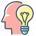 bulb, creative, creative idea, idea, light, light bulb icon