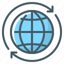 global, global business, globe, sphere icon