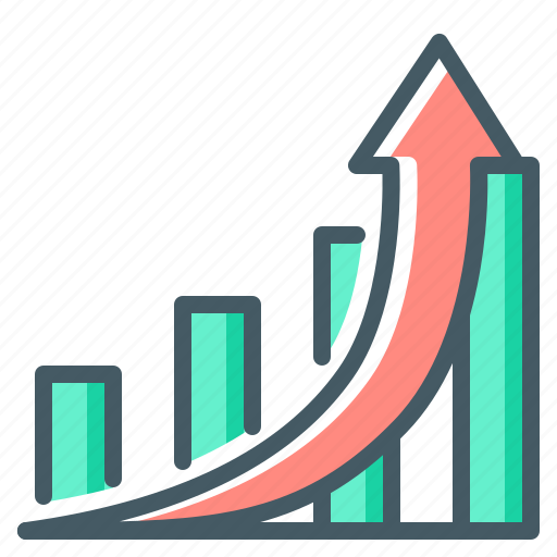 business, chart, graph, growth, increase, rise icon