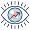 chart, eye, market, market watch, marketing, watch icon