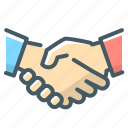 business, hands, handshake, partners icon