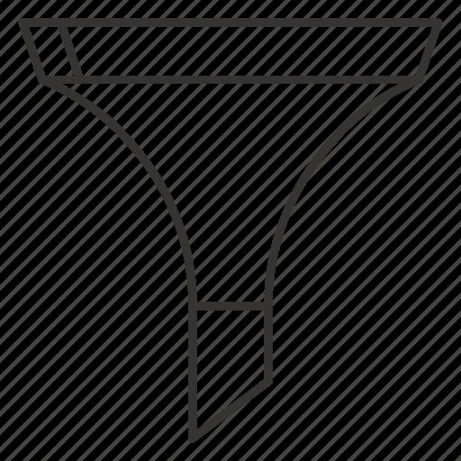 conversion, filter, funnel, marketnig, sales, sort, tools icon
