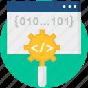 backend, coding, programming, script, seo, web programming icon