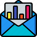 selling, graph, sales, marketing, mail, retail icon