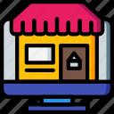 selling, marketing, sales, desktop, retail, store icon