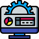 charts, desktop, marketing, retail, sales, selling icon