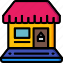 laptop, marketing, retail, sales, selling, store icon