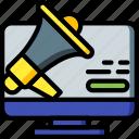 selling, marketing, sales, alert, desktop, retail icon