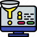funnel, marketing, retail, sales, selling icon