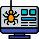 selling, marketing, sales, desktop, retail, bug icon