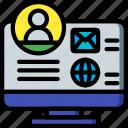 profile, selling, marketing, sales, desktop, retail icon