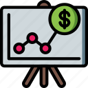 financial, marketing, projections, retail, sales, selling icon