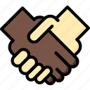 hand, marketing, retail, sales, selling, shake icon