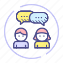chat, communication, conversation, talk icon