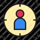 marketing, promotion, seo, target, ui icon