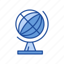 earth, globe, globe desk, world map icon