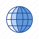 earth, globe, internet browser, world map icon
