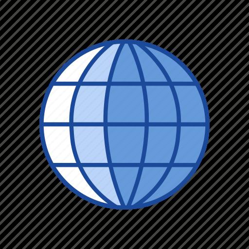 earth, globe, internet browser, world map icon
