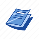 magazine, news paper, notes, test paper icon
