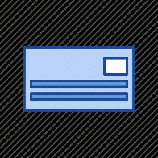 addressed letter, envelope, letter, mail icon