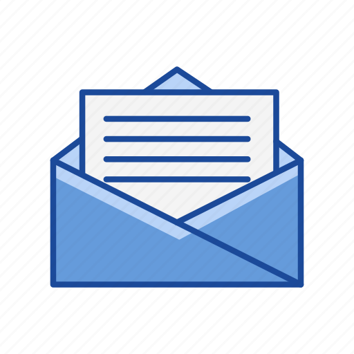email, letter, message, open letter icon