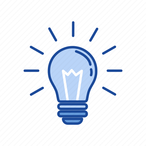bulb, idea, light, thoughts icon