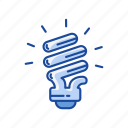 bulb, idea, light, spiral bulb icon