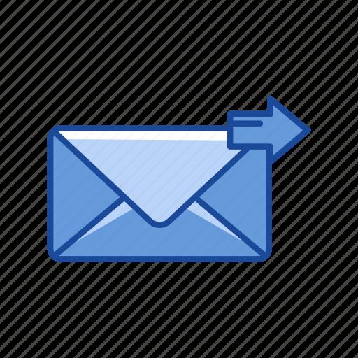 envelope, letter, sending letter, sending mail icon