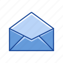 email, evelope, letter, open envelope icon