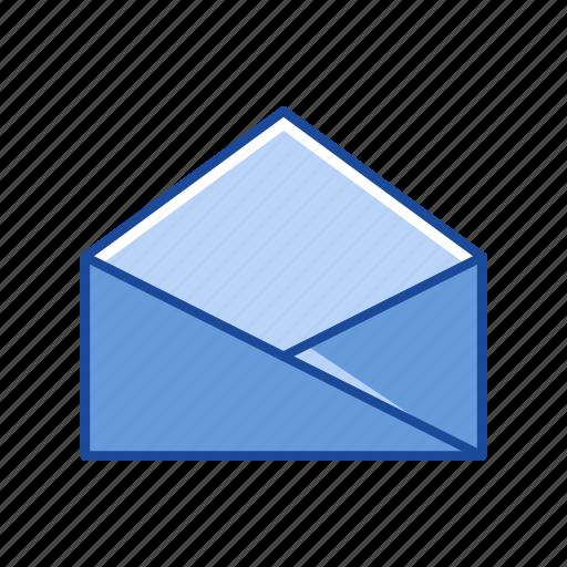 envelope, letter, mail, open envelope icon