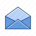 envelope, letter, mail, open envelope icon