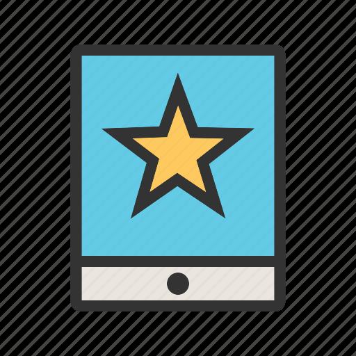 address, click, favorite, link, marketing, tablet, website icon