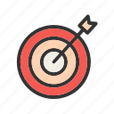 business, market, marketing, target, targeting, team icon