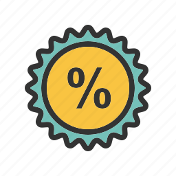 business, discount, finance, interest, percent, percentage icon