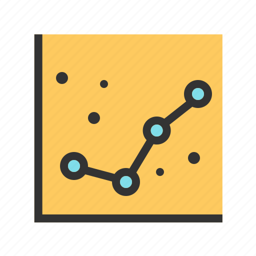 business, charts, data, financial, graph, graphic, line icon