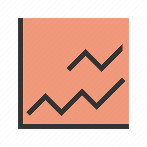business, finance, graph, increase, line, market icon