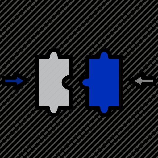 business, idea, marketing, pertinent, puzzel, seo, solution icon