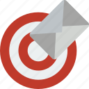 mail, marketing, retail, sales, selling, target icon
